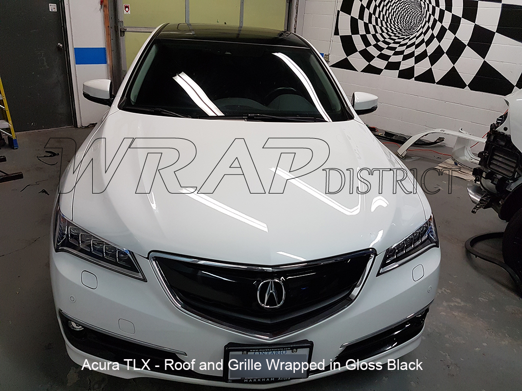 Acura TLX - Roof and Grille Wrap in Gloss Black - Wrap ...