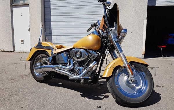Harley Davidson – Gold Amber Wrap
