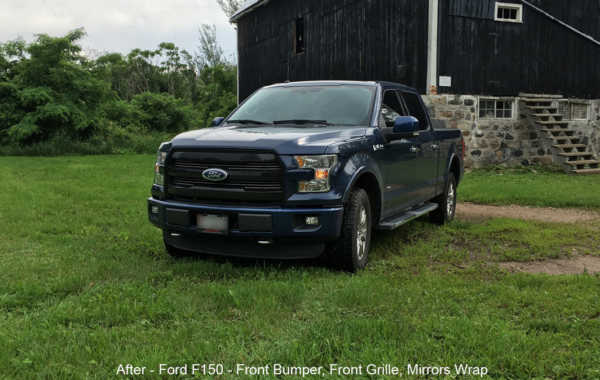Ford F150 – Bumpers, Front Grille & Mirrors Wrap