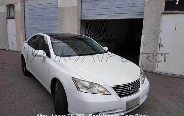 Lexus ES 350 – Roof Wrap in Gloss Black