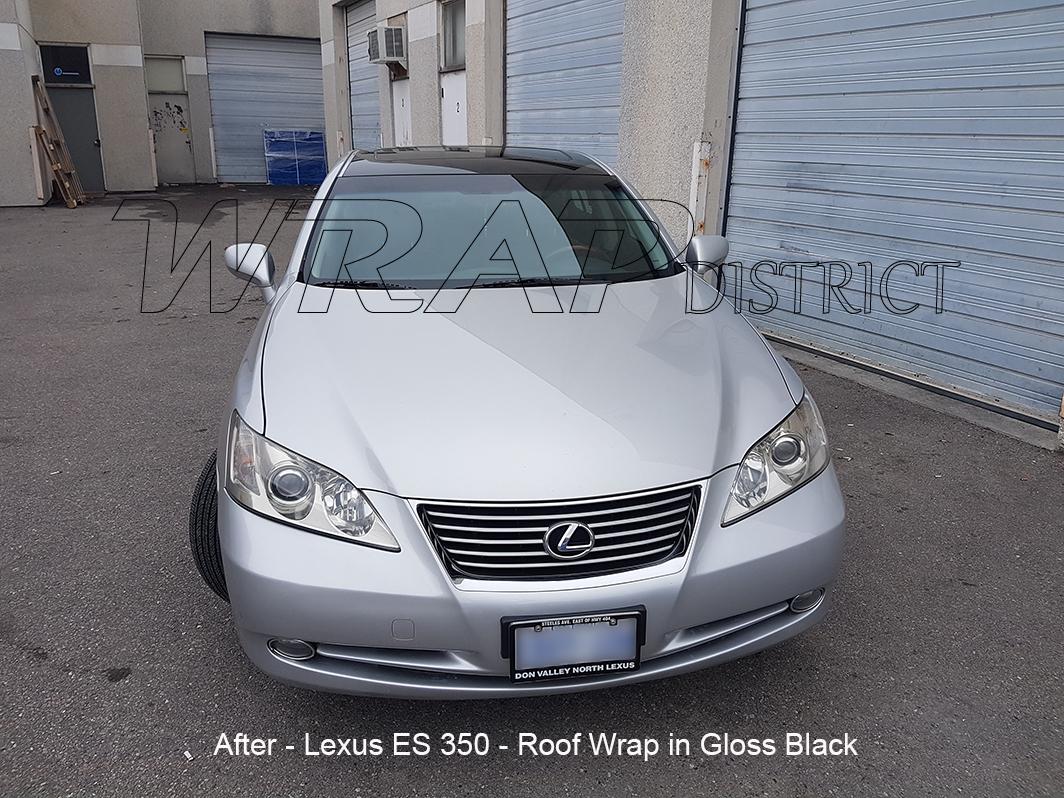 Lexus Es 350 Roof Wrap In Gloss Black Wrap District