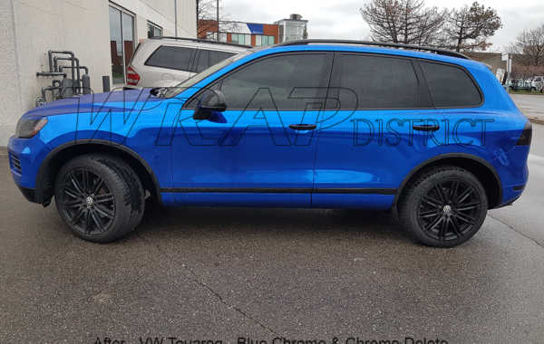 VW Touareg – Blue Chrome Wrap