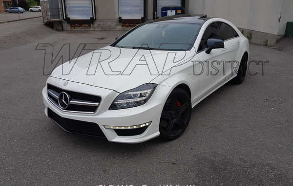 Mercedes Benz – CLS AMG – Pearl White Wrap