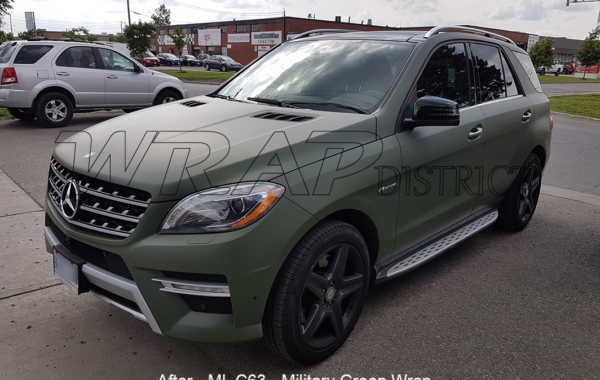 Mercedes Benz – ML 63 – Military Green Wrap