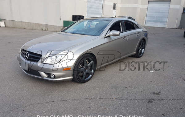 Mercedes Benz – CLS 55 AMG – Roof Wrap and Chrome Delete