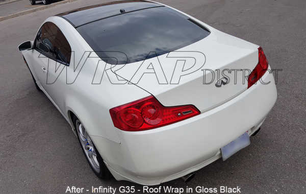 Infinity G35 – Roof Wrap in Gloss Black