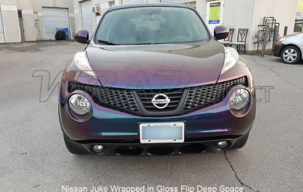 Nissan Juke Wrapped in Gloss Flip Deep Space