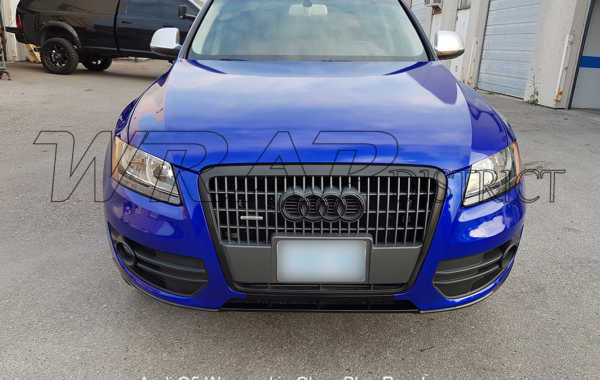 Audi Q5 Wrapped in Gloss Blue Raspberry
