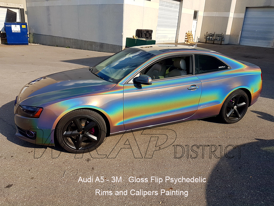 Audi A5 Wrapped In 3m Gloss Flip Psychedelic Wrap District