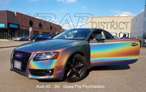 Audi A5 Wrapped in 3M Gloss Flip Psychedelic
