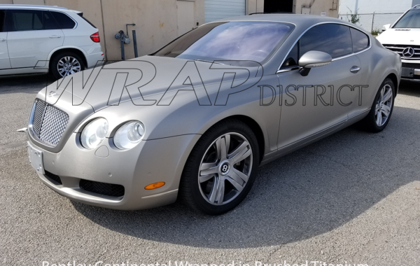 Bentley Continental Wrapped in Brushed Titanium