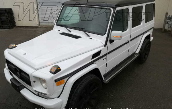 G Wagon Wrapped in Gloss White