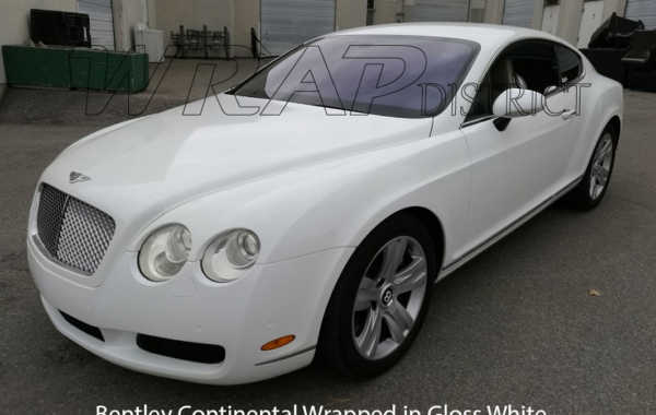 Bentley Continental Wrapped in Gloss White