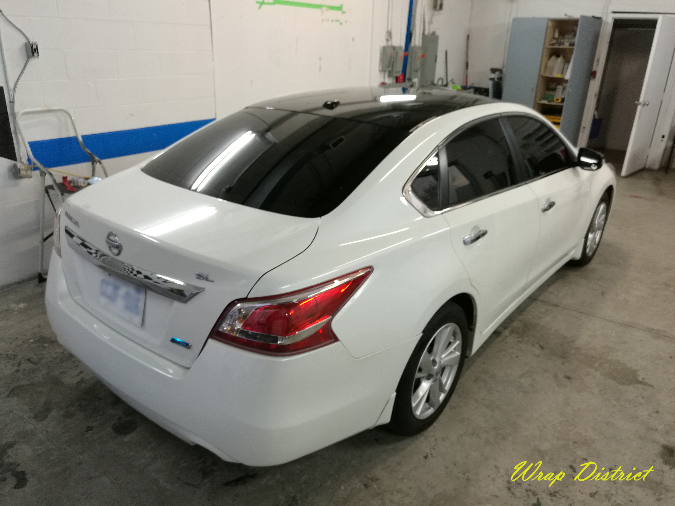 Nissan Altima Roof Wrapped In Gloss Black Wrap District