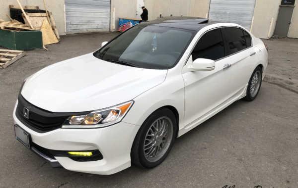 Honda Accord – Roof & Spoiler Wrap in Gloss Black