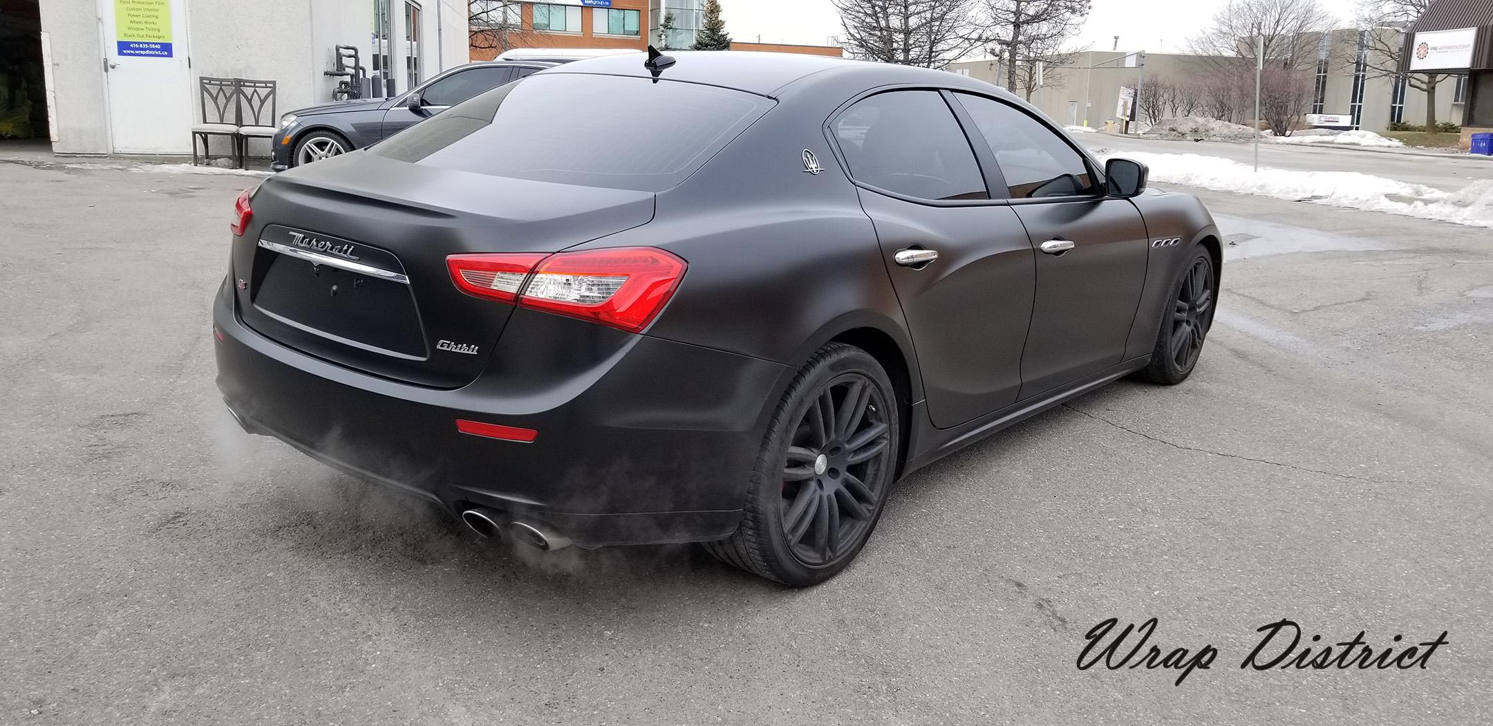 Maserati Ghibli Wrapped In Satin Black Wrap District