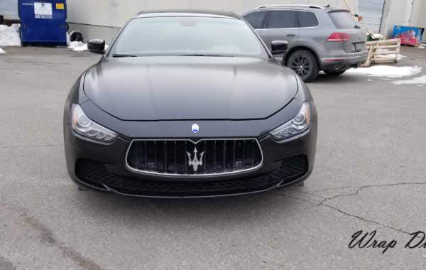 Maserati Ghibli Wrapped in Satin Black