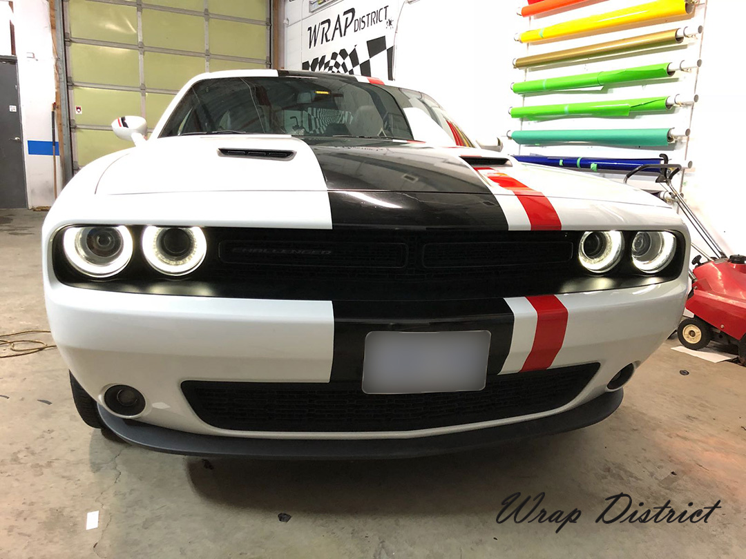 2018 Dodge Challenger >> Dodge Challenger Custom Stripes - Wrap District