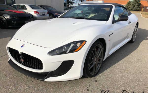 Maserati Granturismo Convertible Wrapped in Gloss White