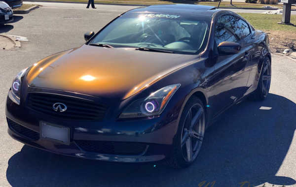 G37 Wrapped in Gloss Flip Deep Space