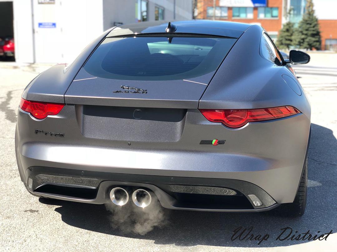 Jaguar F Type Wrapped In Satin Dark Grey Wrap District
