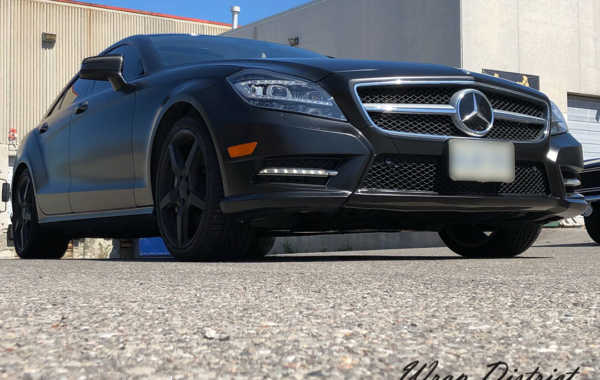 CLS 550 Wrapped in Satin Black