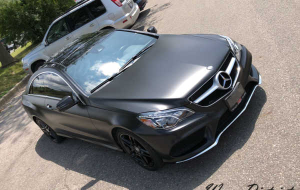 E550 Coupe Wrapped in Satin Black