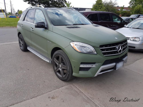 Mercedes Benz - ML 550 Wrapped in Matte Military Green