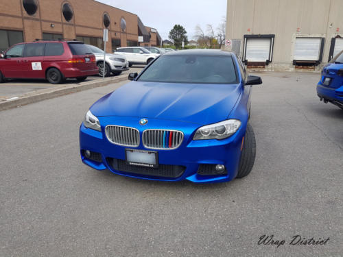 BMW 550i - Wrapped in Satin Blue Chrome