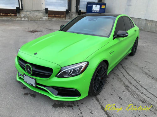 Mercedes Benz - C63 - Wrapped in Satin Grass Green