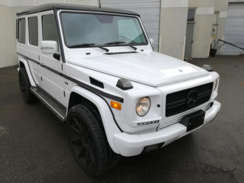 Mercedes Benz, G Wagon Wrapped in Gloss White