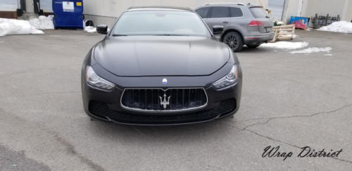 Maserati Ghibli - Wrapped in Satin Black