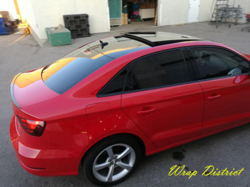 Audi A3 - Roof Wrapped in Gloss Black