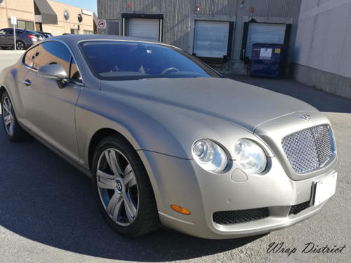Bentley Continental Coupe - Wrapped in Brushed Aluminum