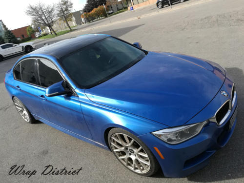 BMW 325 - Roof Wrapped in Gloss Black