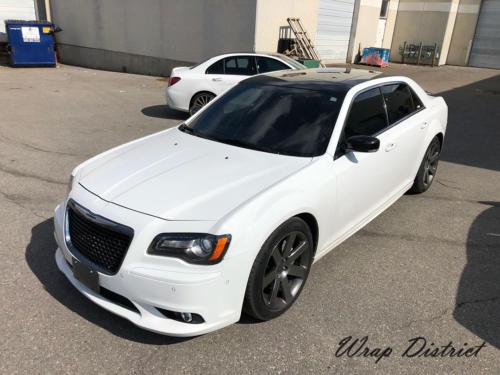 Chrysler C300 - Roof Wrapped in Gloss Black