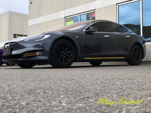Tesla Model S - Custom Yellow Accent